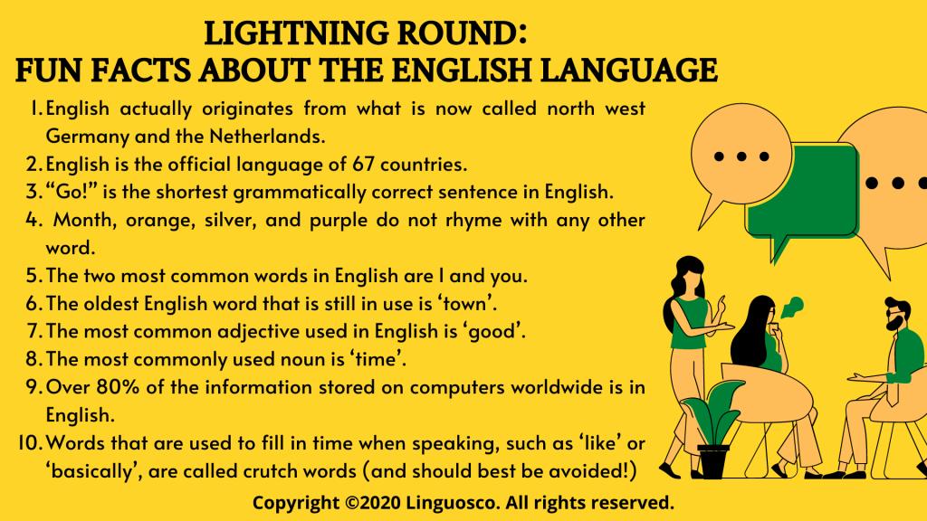 Lightning Round: Fun Facts About The English Language