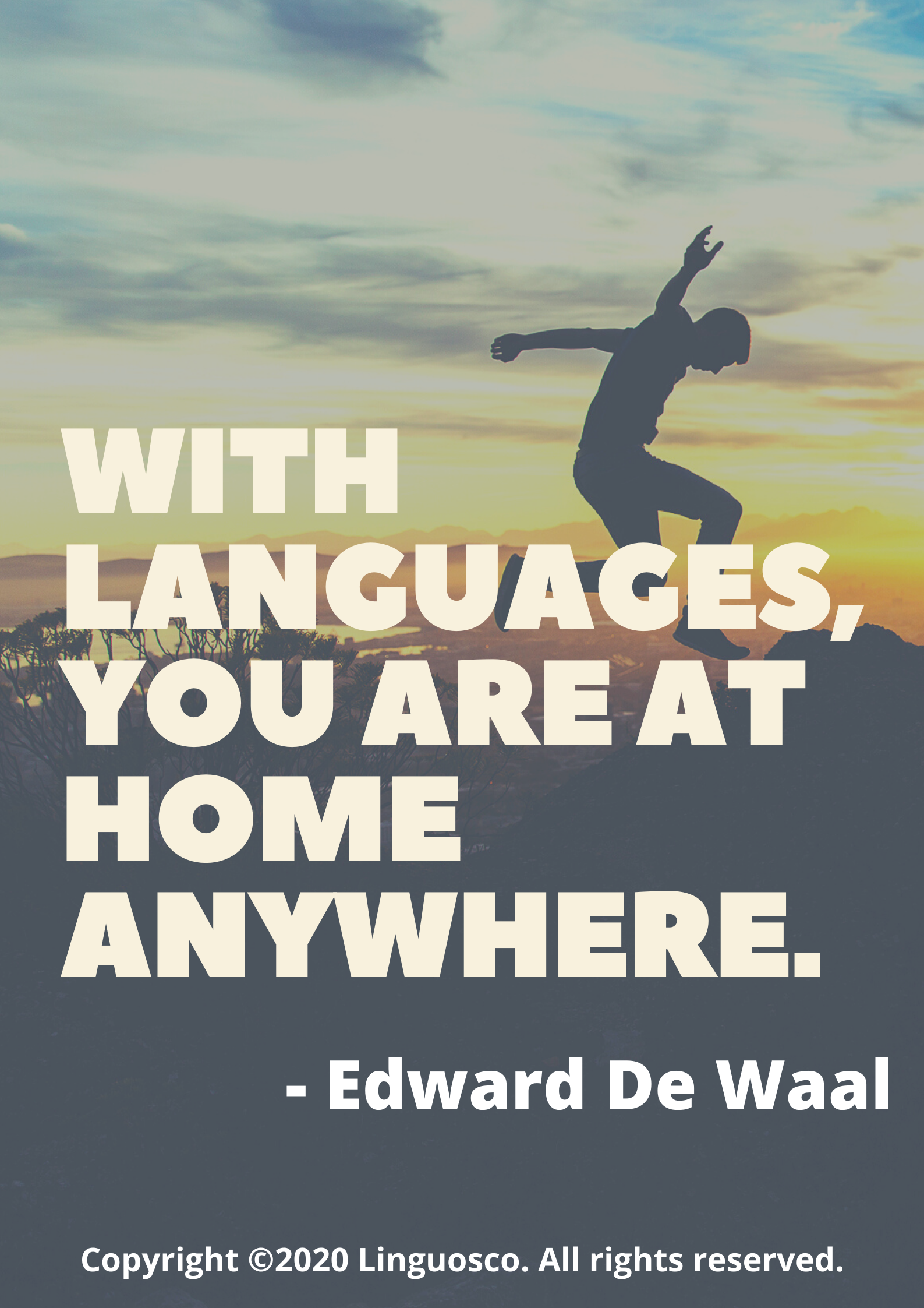 With Languages, You Are At Home Anywhere.