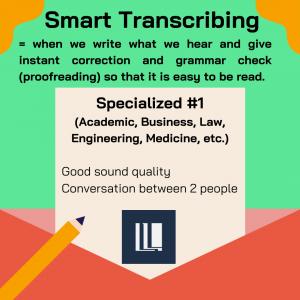 Snart Transcribing - Audio / Video Transcribing