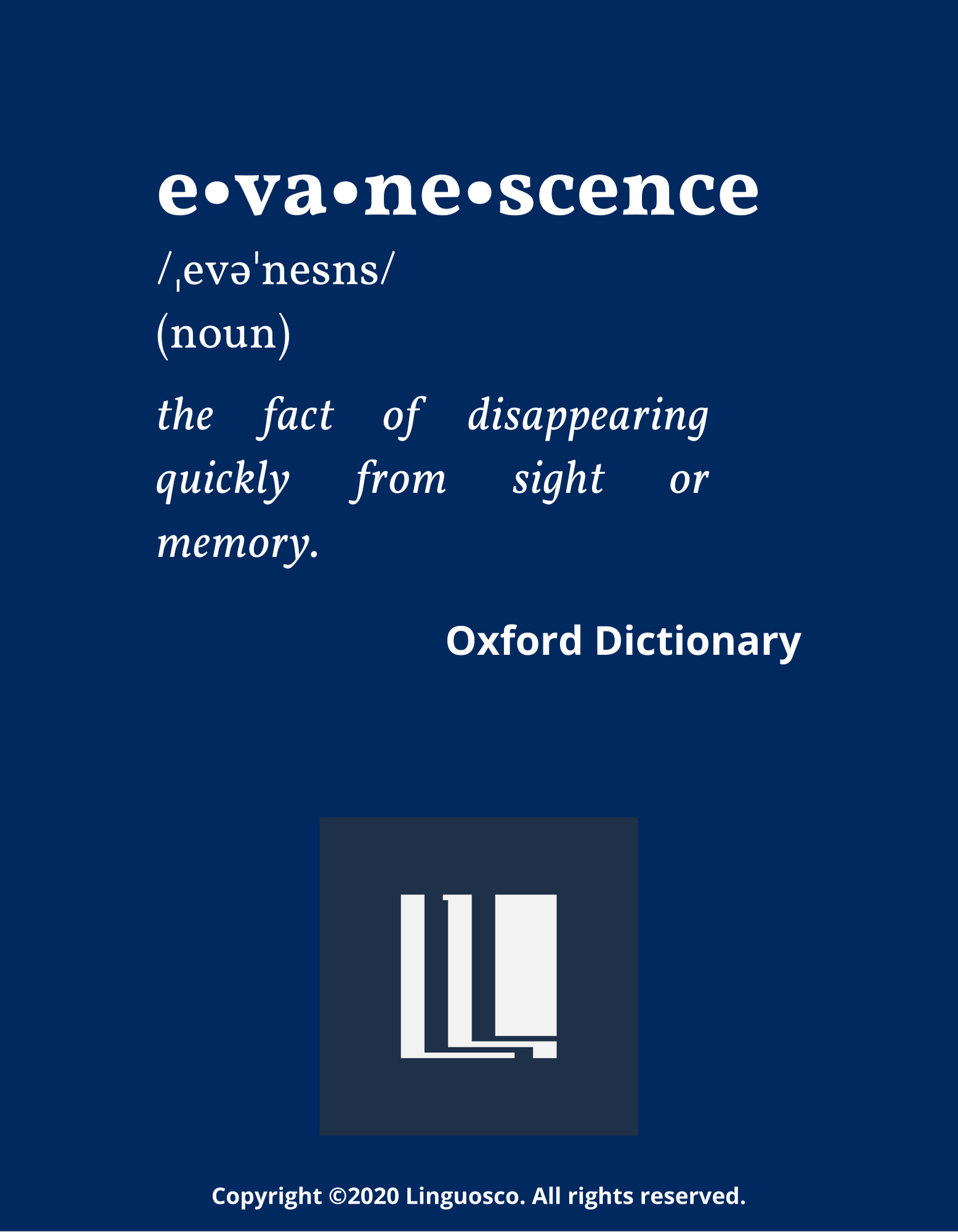 Word of the Week - Evanescence