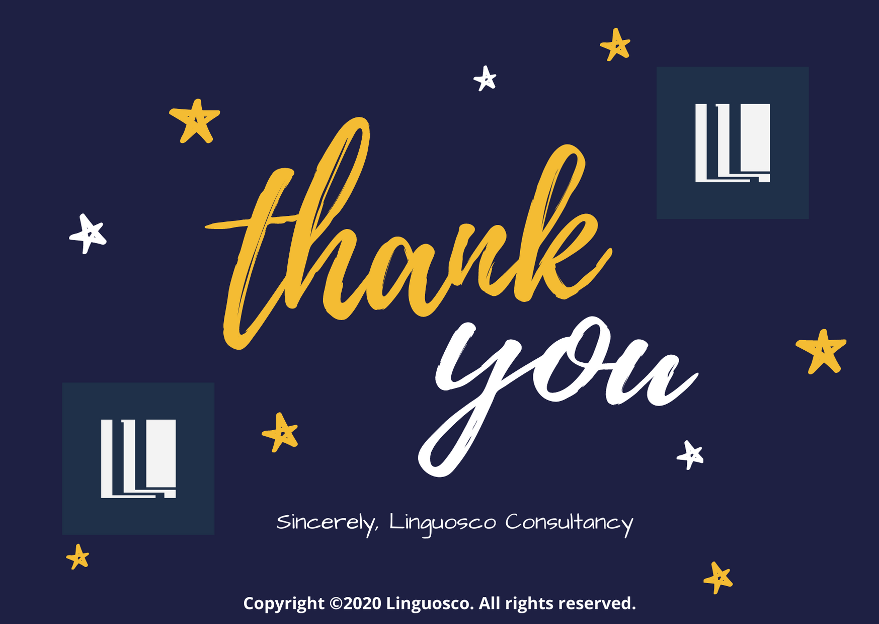 Thank you Dear Customers - Linguosco