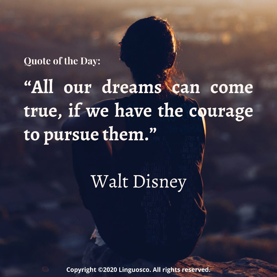 Quote of the Day - Walt Disney