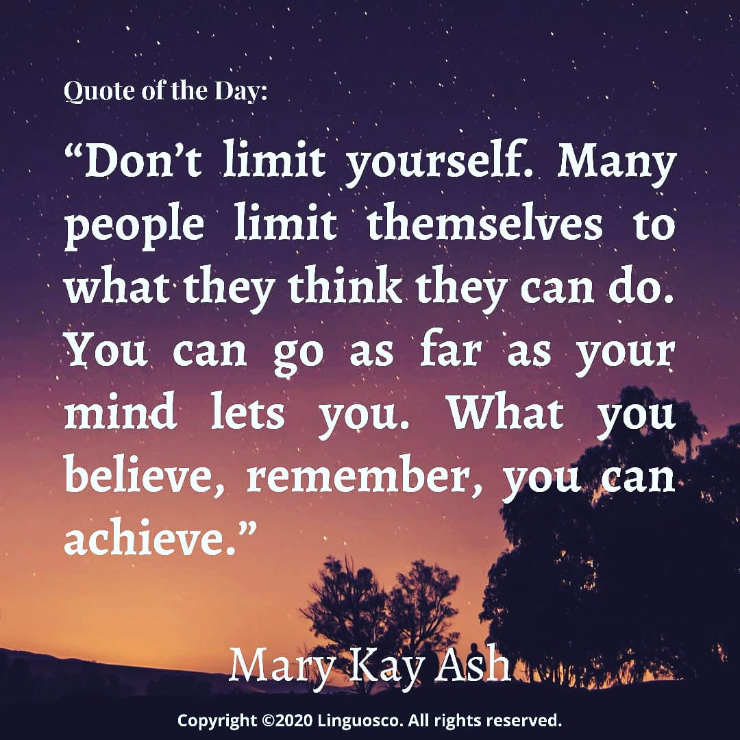 Quote of the Day - Mary Kay