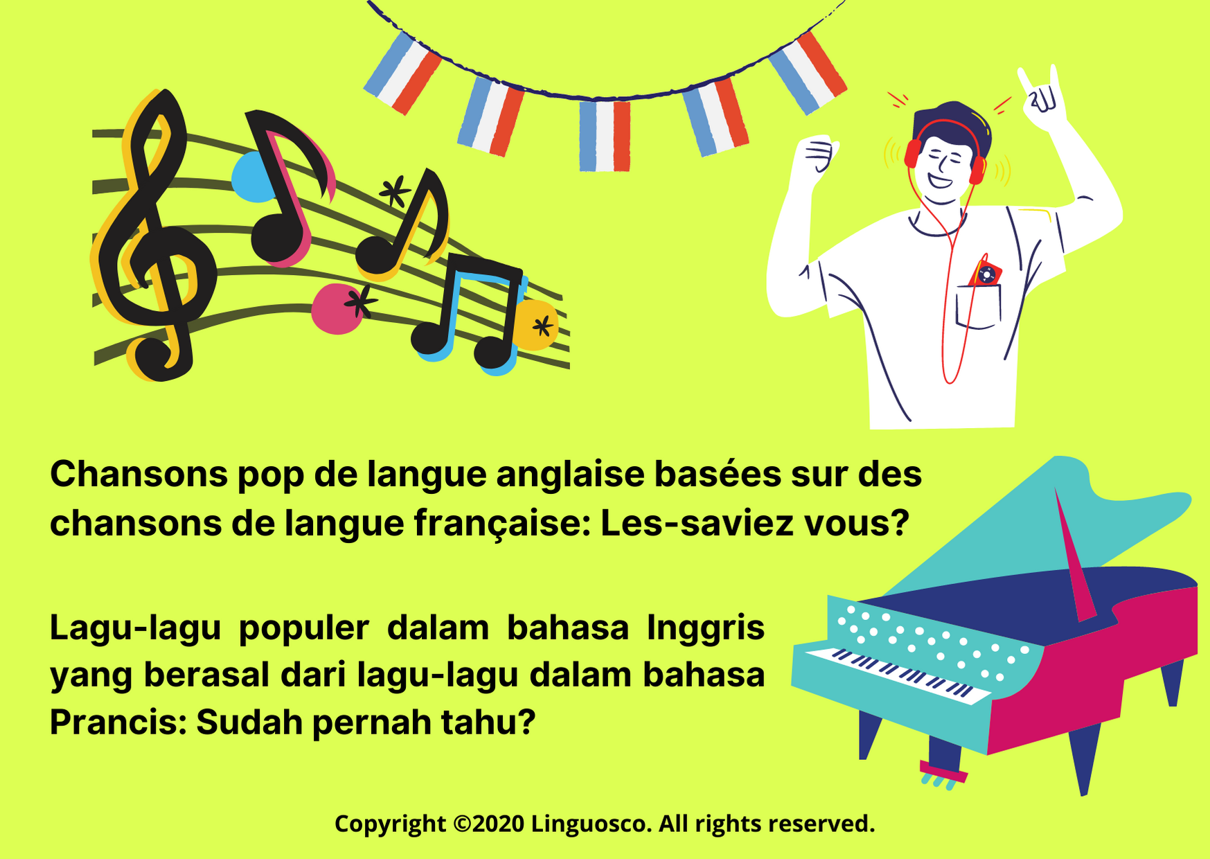 French Week - Week 1 (Part 1 - Chansons)
