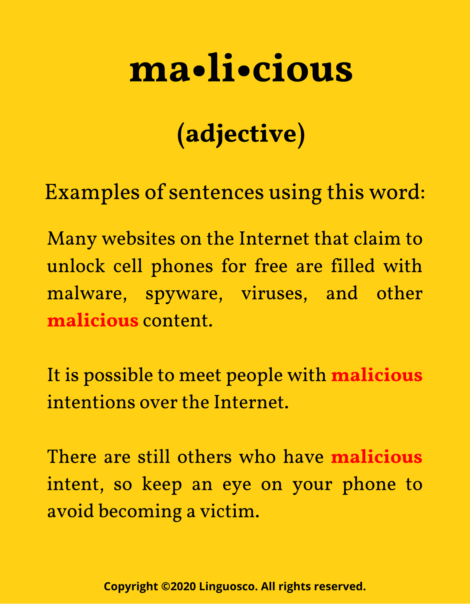 Word of the Week - Malicious
