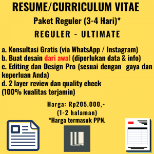Resume - Paket Reguler - Ultimate