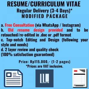 Resume - Regular Delivery - Modified