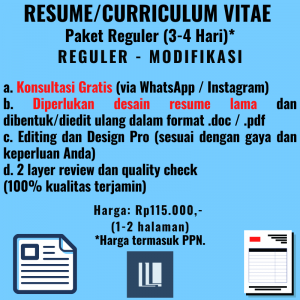 Resume - Paket Reguler - Modifikasi