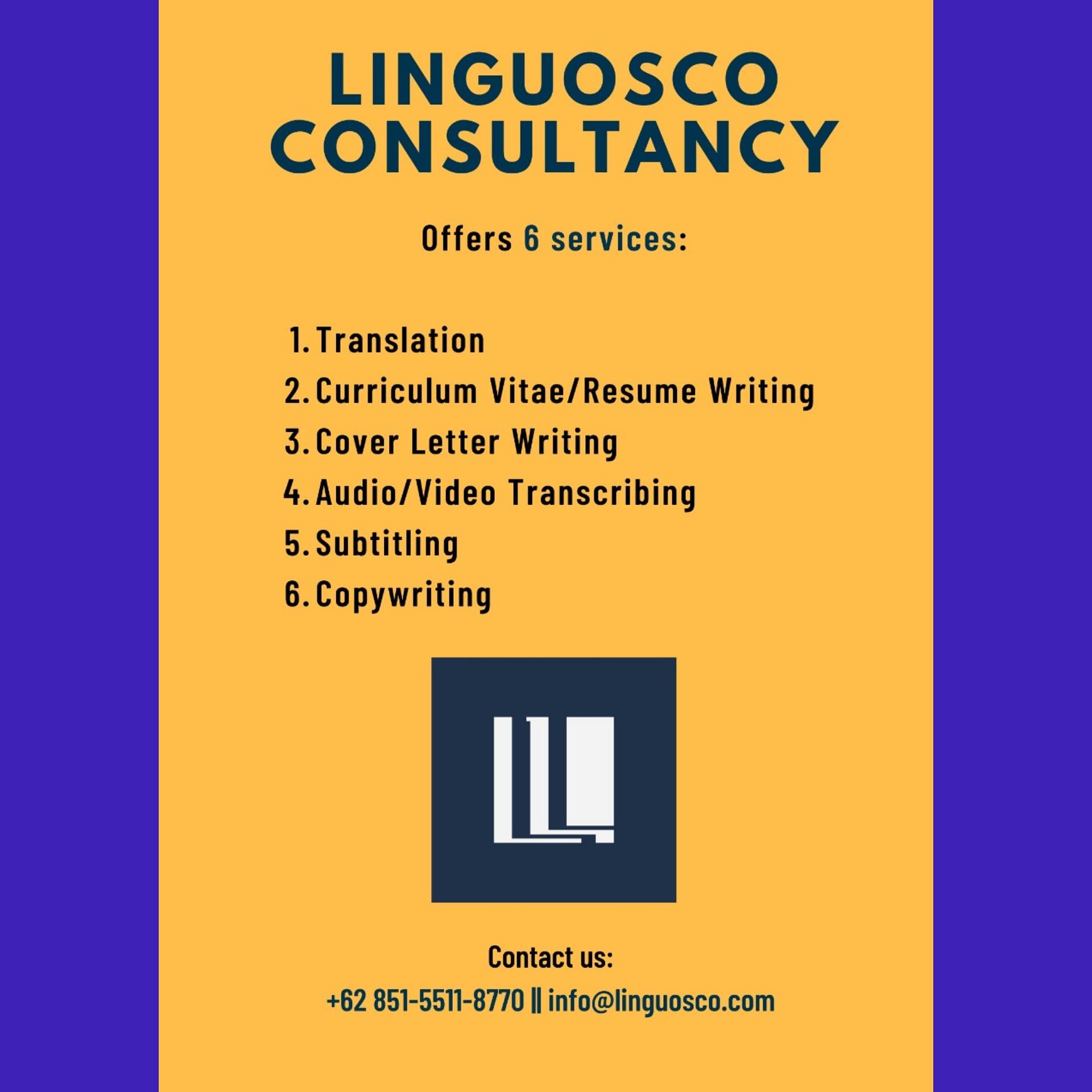 Linguosco - Services