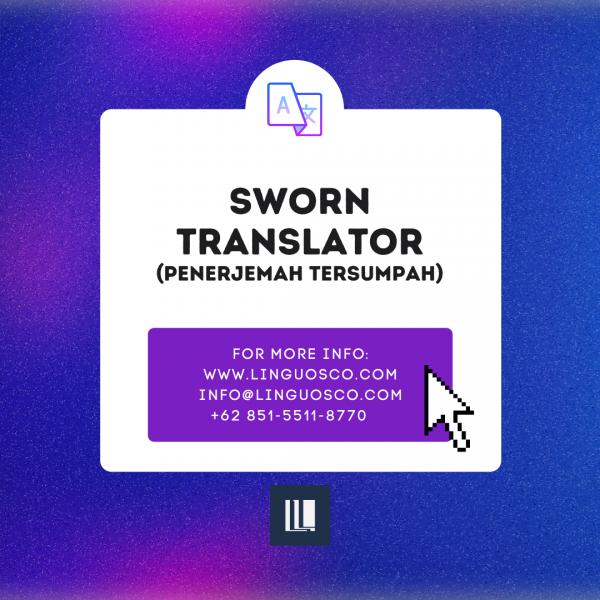 Linguosco Sworn Translator